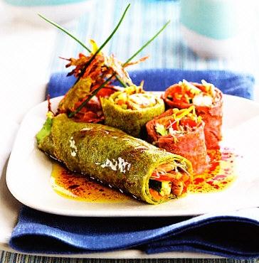Crêpes integrales de verduras
