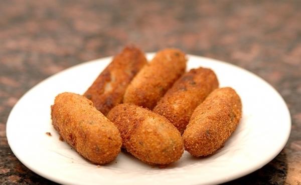 Croquetas de pollo pakistanís