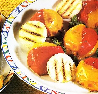 Cúpulas bicolor de pimientos