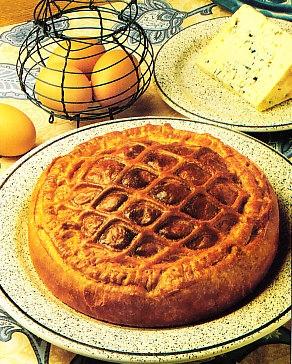 Empanada de queso azul