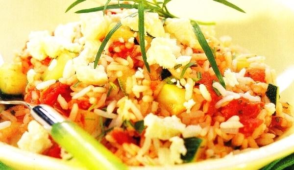 Ensalada de arroz al estilo provenzal