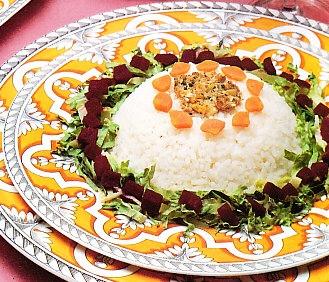 Ensalada de arroz con remolacha