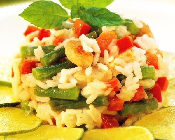 Ensalada de arroz thaï