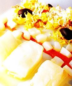 Ensalada de bacalao, sepia y patata
