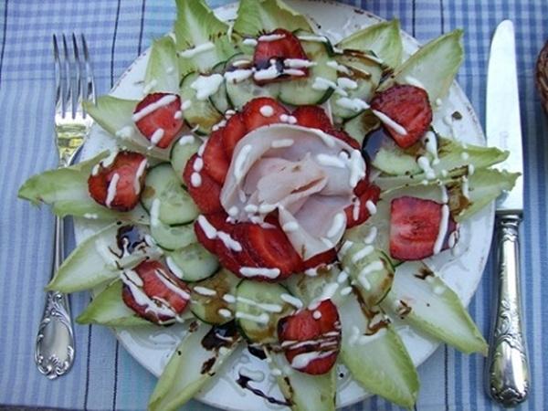 Ensalada de endibias y fresones