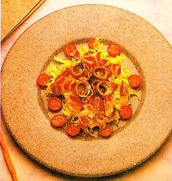 Ensalada de jamón de pato y anchoas