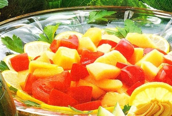 Ensalada de melón y tomate