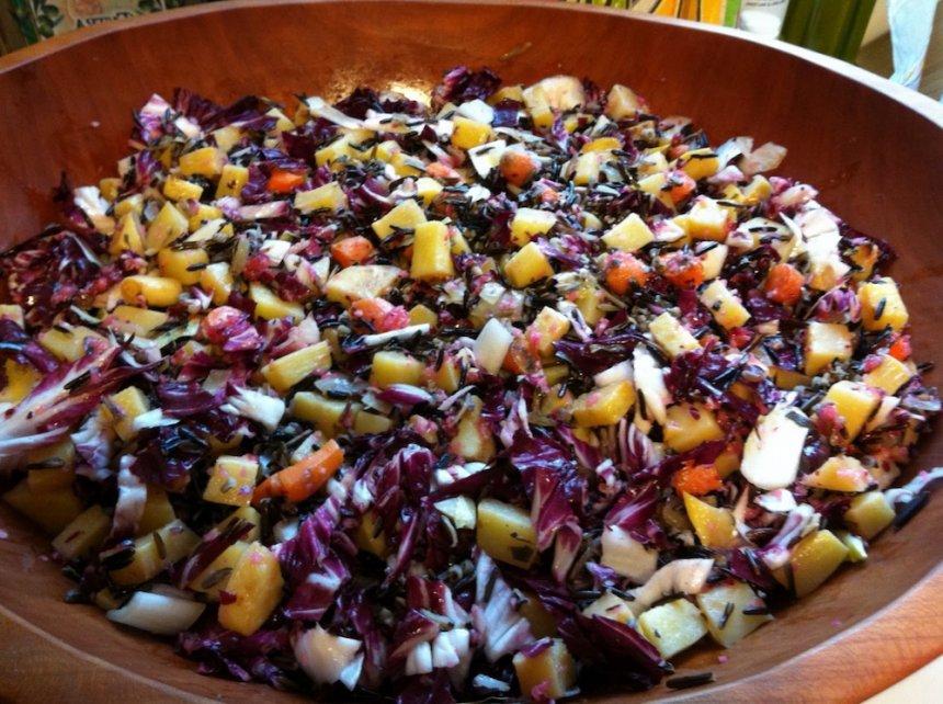 Ensalada de pasta con verduras de otoño en Thermomix