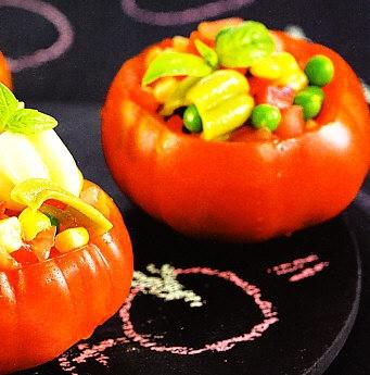 Ensalada de pasta multicolor