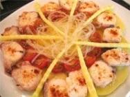 Ensalada de pulpo con agar-agar y bambú