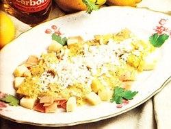 Ensalada de queso de gruyère con jamón
