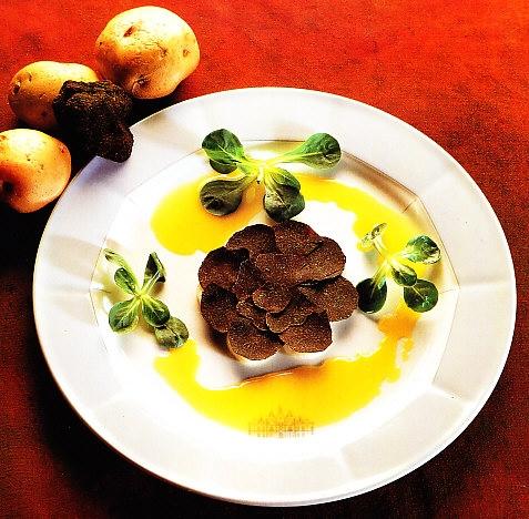 Ensalada de trufa y patata