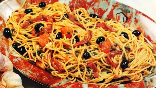 Espaguetis a la isleña