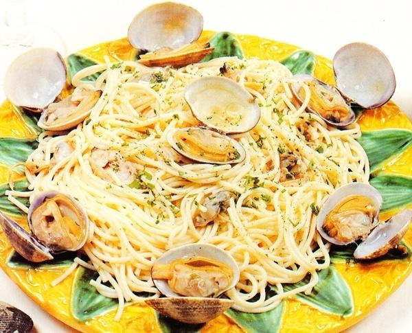 Espaguetis con chirlas