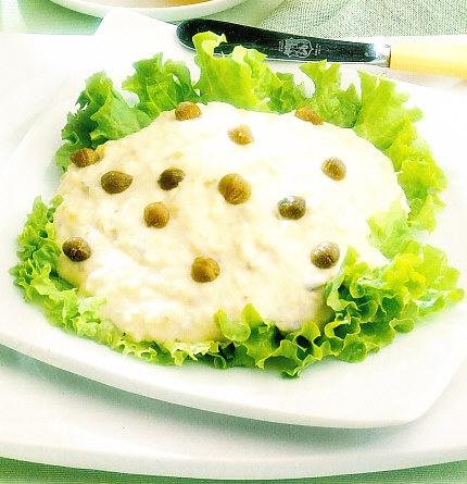 Espuma de merluza y puré de patata