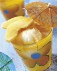 Espuma helada de albaricoque