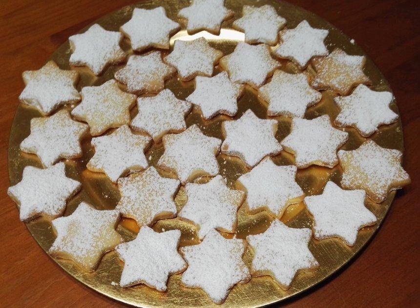Galletas de mantequilla con forma de estrella