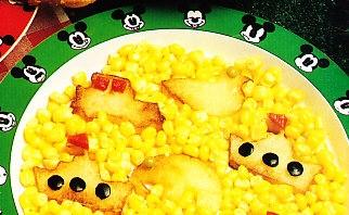 Figuritas de patata con maíz