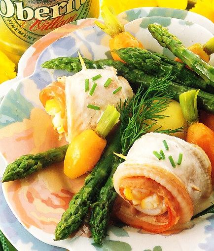 Filetes de lenguado con verdura
