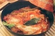 Filetes de pescado a la portuguesa