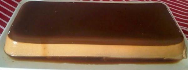 Flan de café dos colores