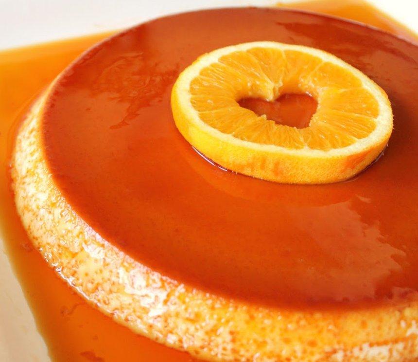 Flan de naranjas dulces