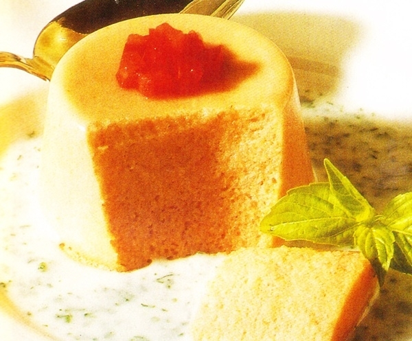 Flan de tomate y queso