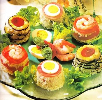 Flanecitos de arroz decorados