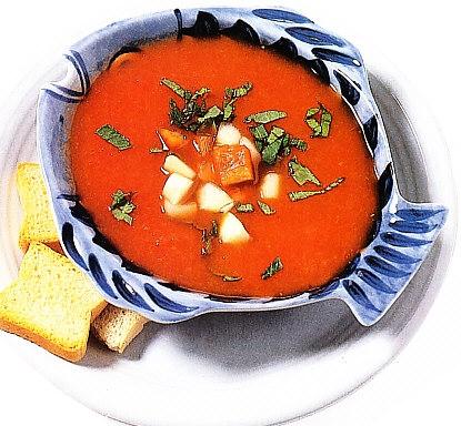 Gazpacho con atún y salmón