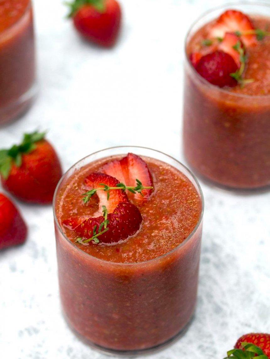 Gazpacho de fresas