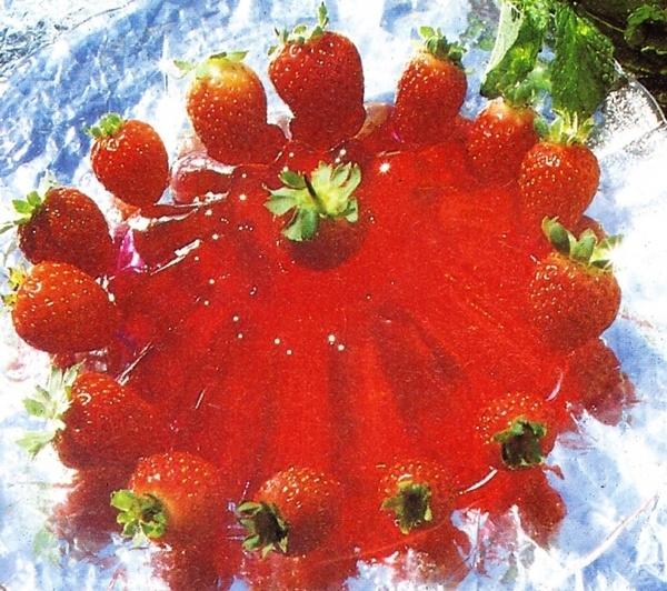 Gelatina de puré de fresas