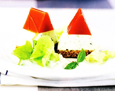 Gelatina de tomate y yogur