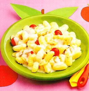 Gnocchi con champiñones y queso
