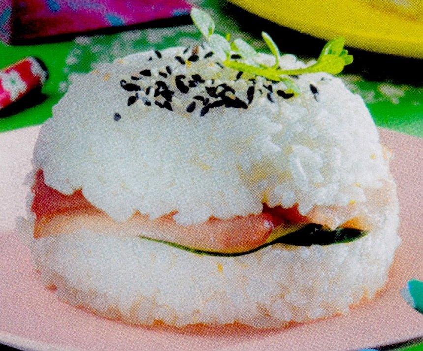 hamburguesa de sushi de atún