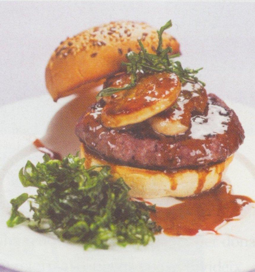 Hamburguesa de ternera con foie gras