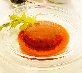 Hamburguesas con salsa de pimiento