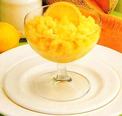Helado de melón al limón