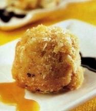 Helado frito de dulce de leche de coco
