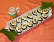 Higos rellenos de crema de queso y jengibre