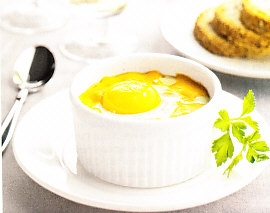 Huevos a la reina con bechamel