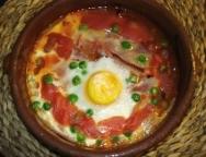 Huevos al plato a la madrileña