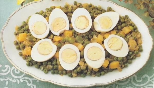 Huevos con verduras