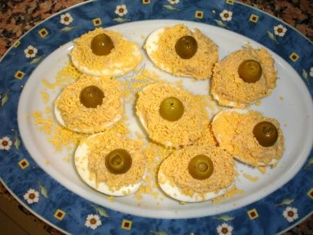 Huevos duros a la Pauleta
