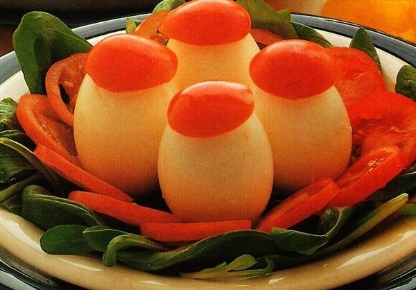 Huevos duros con salsa tártara