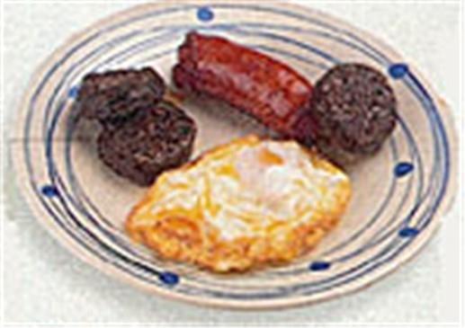 Huevos fritos con chorizo y morcilla
