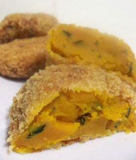 Kabocha korokke (bollos de calabaza)