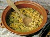 Koshari Ads Asfar (lentejas amarillas con arroz)