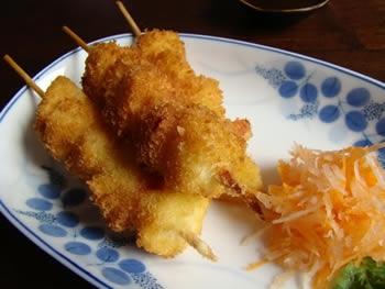 Kushiage (Empanado de carne y pescado)