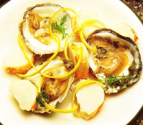 Langosta con ostras