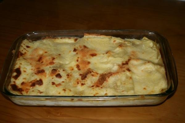 Lasaña de queso